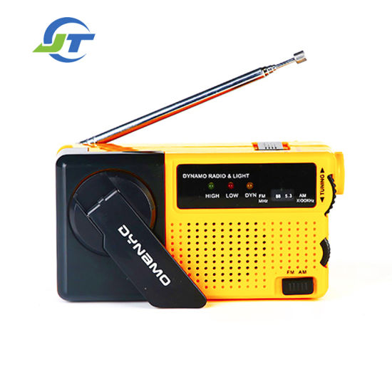 Factory Wholesale Portable Hand Crank Charging Radio
