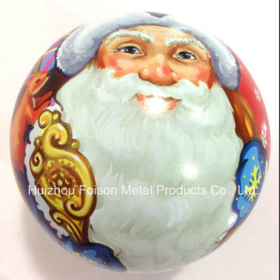 Fancy OEM Printing Christmas Tin Ball for Gift pictures & photos
