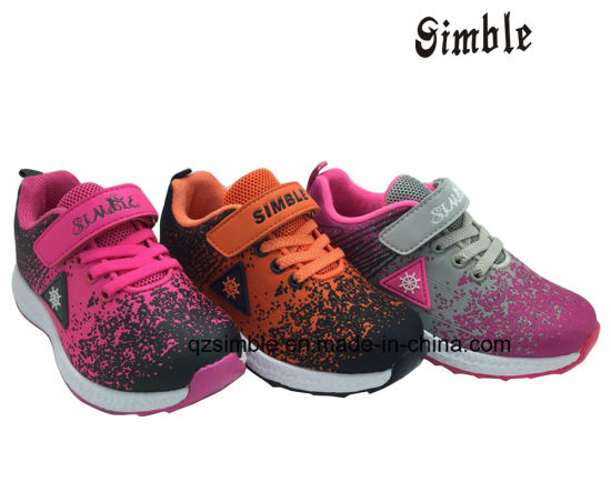 Children Kids Casual Sports Running Shoes with Flyknit Upper