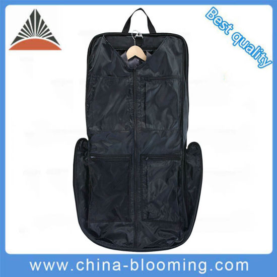 Wholesale Custom Men Carrier Portable Foldable Handbag Display Polyester Business Hanging Clothes Dress Suit Cover Garment Bag