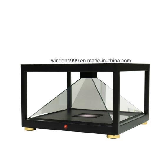 360 Degree 3D Hologram Display Pyramid Hologram Showcase for Shopping Mall