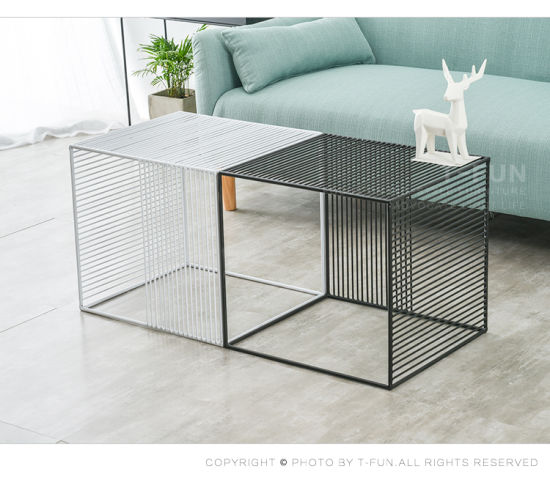 China Home Furniturehollow Square Metal Simple Style Table China