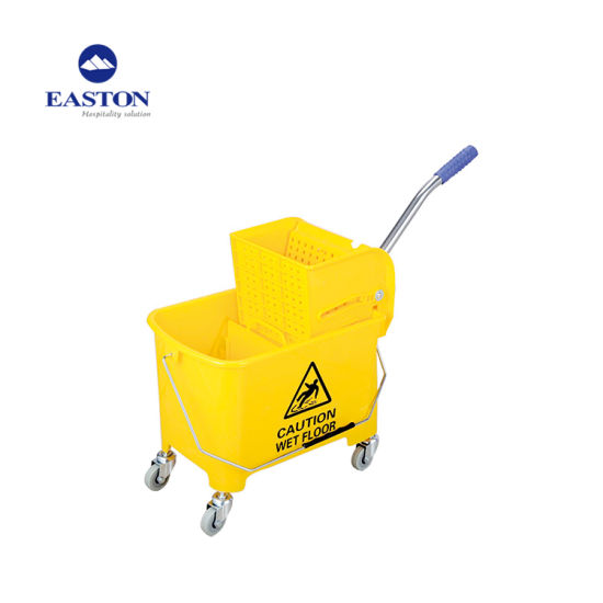Strong Plastic Material Hotel Tilt Truck Cleaning Cart pictures & photos
