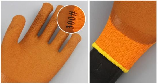 High Quality Acrylic Fiber Knitted Liner Micro-Foam Latex Coated Work Safety Gloves