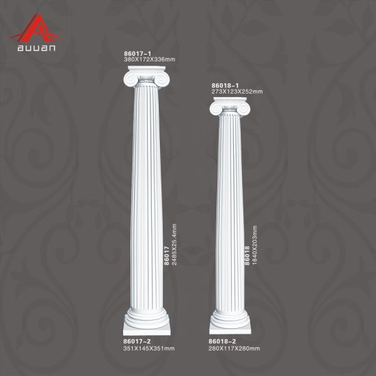 86017 Factory PU Foam Hollow Roman Column Building Material