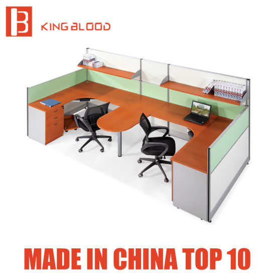 2 Person Office Workstation Wood Partition