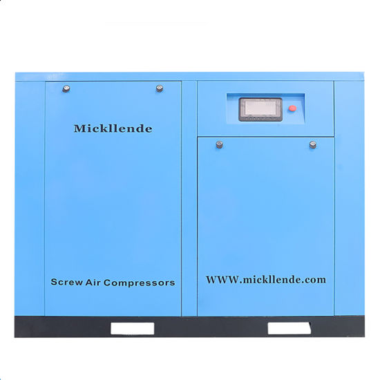 Mickllende 15-250 Kw High/Low Pressure Efficiency Inverter Pm Motor Industrial Oil Injected AC Screw Type Kompresor Single Twin Rotary Screw Air Compressor
