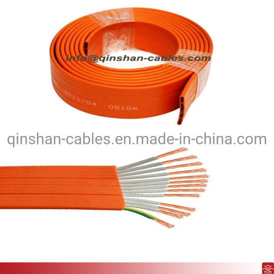 18corex1.0mm Orange Flat Flexible PVC Power Cable Electric Copper Wire Cable Elevator Cable
