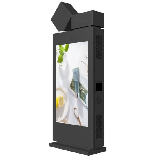 Factory Outdoor Waterproof Floor Stand Advertising HD 55 Inch LCD Touch Screen Totem