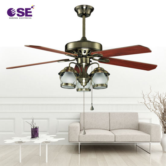Wholesale Classic 48 Inch Decorative Ceiling Fan with Light