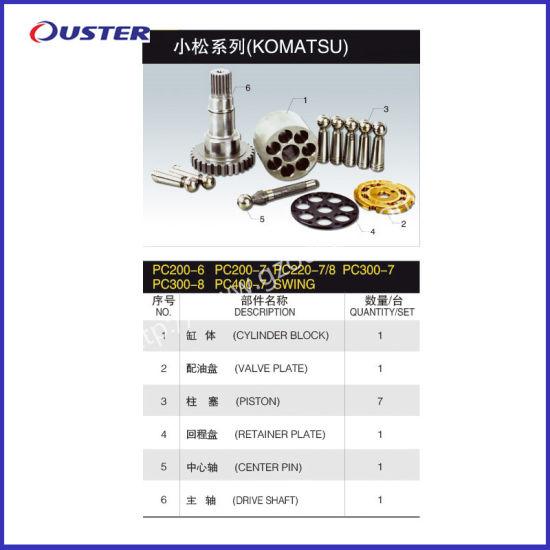 Komatsu PC200-6 PC220-7 PC300-7 PC400-7 Hydraulic Pump Parts Swing Motor Parts