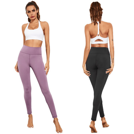 Autumn Yoga Pants Female Butt Lifting Exercise Fitness Clothing Slim Tight Height Waist Foot Nine Points Pants