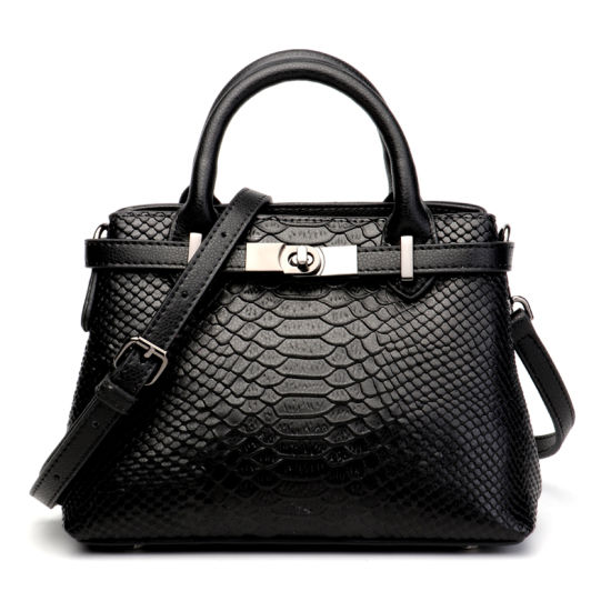 Fashion Crocodile Grain Cow Leather Women Shoulder Birkin Hand Bag