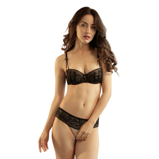 Women's Lace Demi Bra and Panty