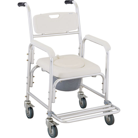 ISO9001&13485 Certification Comfortable Disabled Commode Chair pictures & photos