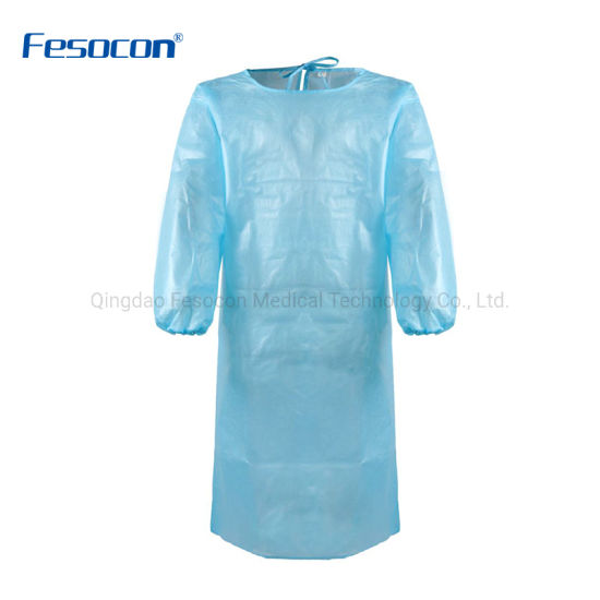 Wholesale Price Disposable Medical Surgical Isolation Gown Protective Clothes
