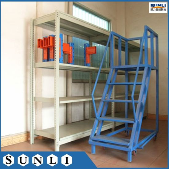 Moveable Warehouse Stairs With Step Panels