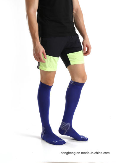 5b17bf2fb5a Cotton Compression Graduated Support Knee-High Purple Jacquard Socks for  Men Women