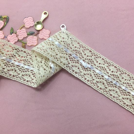 Hot Sale 4cm Cotton Lace Trimming for Home Textile