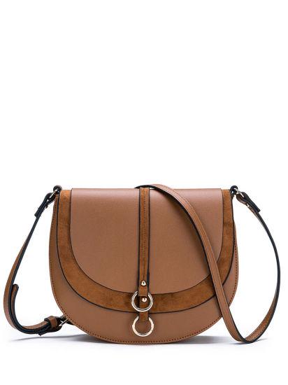 Contrast Color Lady Fashion PU Leather Luxury Designer Crossbody Handbag Women Handbag for Wholesale