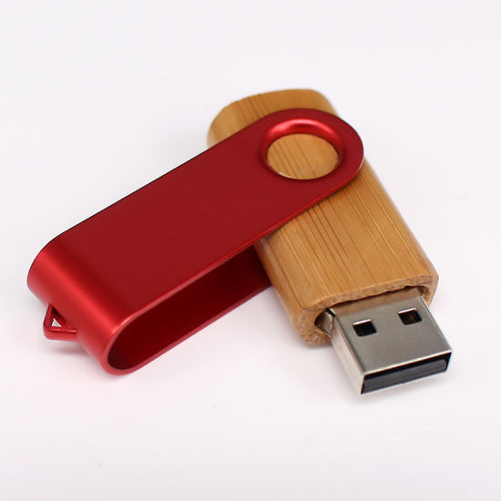 Promotion Custom Wood Twister/Swivel USB Memory Stick USB Pen Drive
