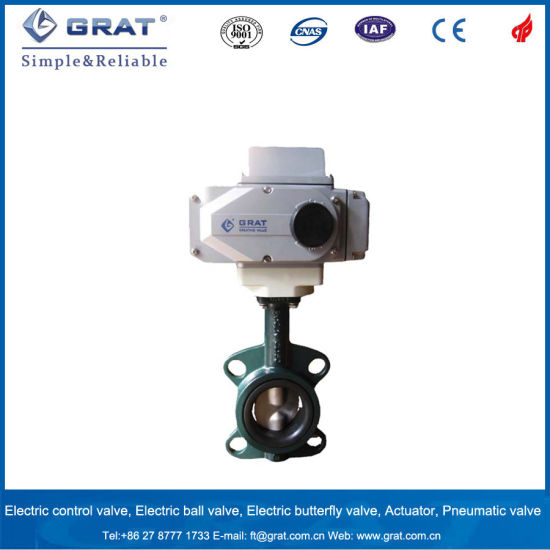 Bronze Electric Actuated Butterfly Valve for Sea Water Control