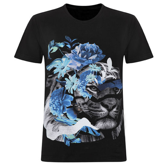 Manufacturer Wholesale Men Printed Stylish Short Sleeves Football Slim Fit T-Shirt pictures & photos