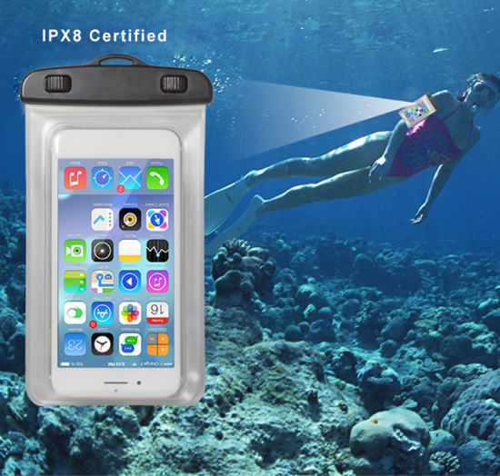 Universal PVC Mobile Phone Waterproof Case, Waterproof Pouch for iPhone pictures & photos