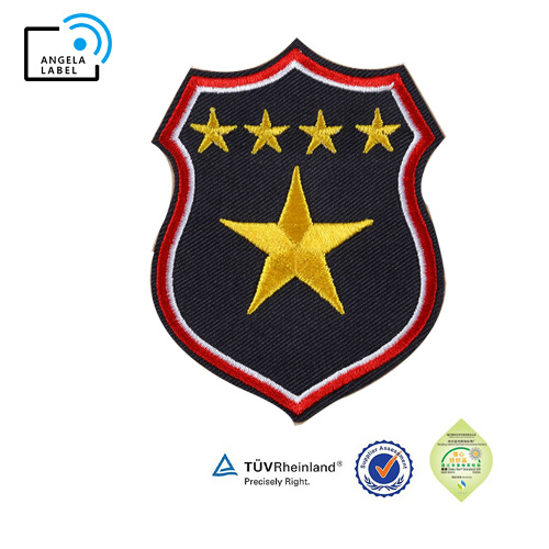 Star Army Arm Badge Iron on Patch Bike Vest Badge DIY Embroidered Patches for Clothing Wholesale pictures & photos