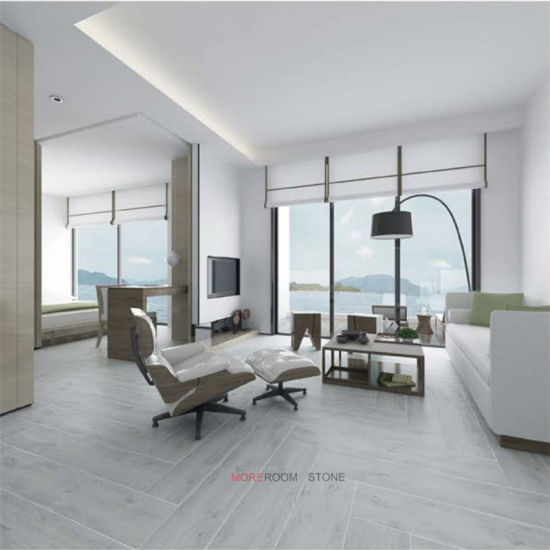 China Living Room 200X1000 Grey Wood Effect Ceramic Tiles ...