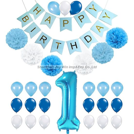 Happy Birthday One Year Old Kid Birtyday Decoration Party Supplies Pictures Photos