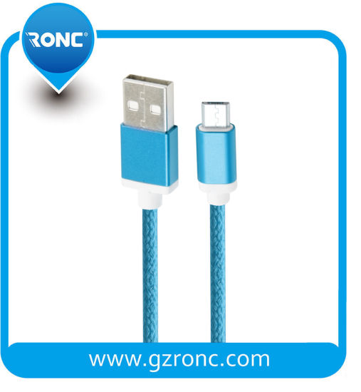 Nylon USB Cable for Charging and Data Transmission