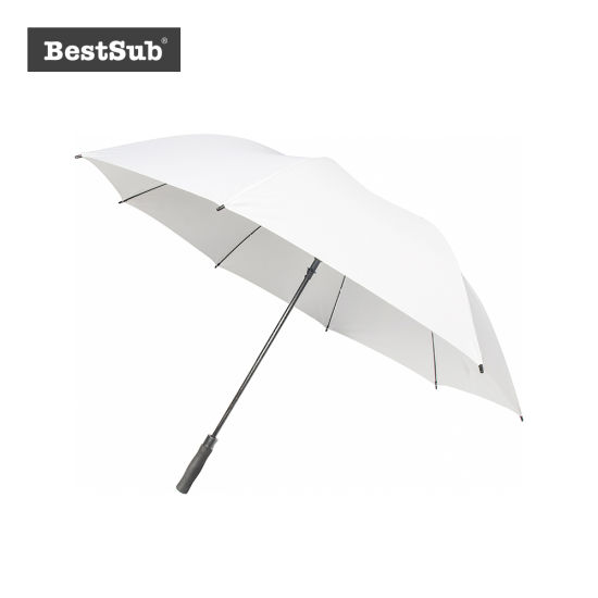 30 in. Sublimation Golf Umbrella (Self-Opening, White)