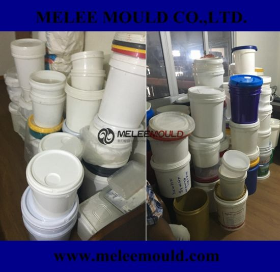 Paint Bucket with Lid Plastic Injection Mould pictures & photos