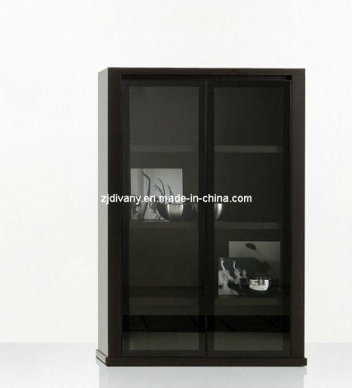 China Italian Modern Wood Glass Door Display Cabinet Sm D29