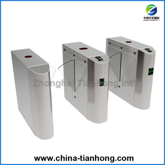 Retractable Excellent Half Height Flap Barrier Gate Turnstile pictures & photos