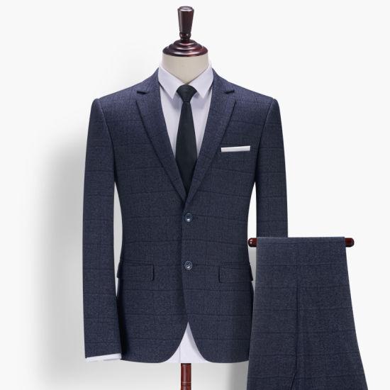Custom Suit Deep Blue Color Men Formals Business Wear Suit