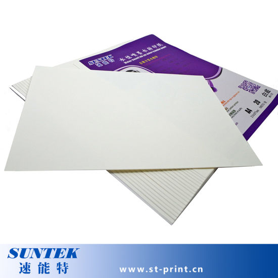 A4 Size Inkjet White Water Slide Decal Transfer Paper (STC-T05) pictures & photos