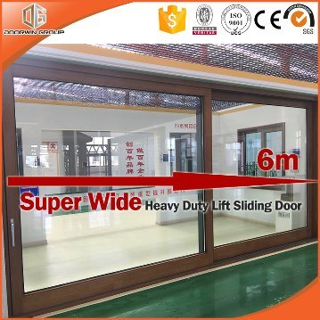 Chinese High Quality Aluminum Sliding Door with Interior Wood Cladding pictures & photos