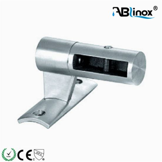 Stainless Steel Stair Handrail Post Glass Clamp/ Glass Hardware
