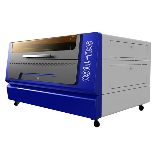 2000mm/S Working Speed 30W RF Metal Laser Engraver Wood Acrylic Leather CO2 Laser Engraving Machine Laser Cutter Scu1060 for Nonmetal Materials CNC Cutting