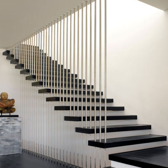 Modern Staircase Design Wood Tread Floating Stairs