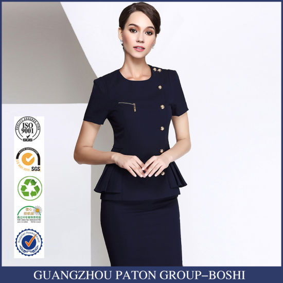 Customized Sexy Airline Uniform for Stewardess From China Manufacture pictures & photos