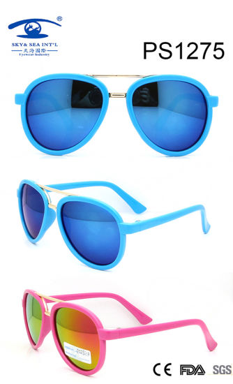 Top Selling Frames Colorful Kid Plastic Sunglasses (PS1275) pictures & photos
