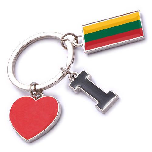 New Custom Metal Souvenir Lithuania Keyring