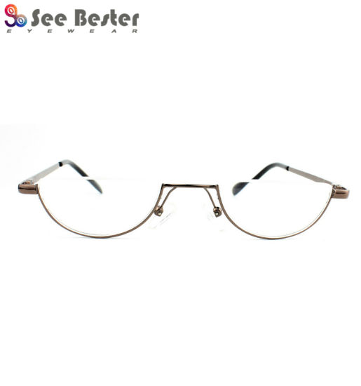 bcb766338f3 China Half Moon Frames Rims Metal Stainless Steel Reading Glasses ...