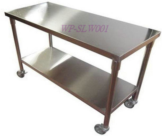 Stainless Steel Table with Wheel for Kitchen pictures & photos
