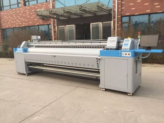 High Resolution 1440dpi Dx5 Printhead Eco Solvent Printer 3.2m Printing Size for Flex Banners