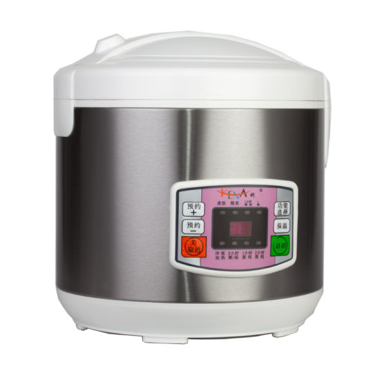 700W 5L Stainless Steel Non-Stick Electric Rice Cooker with Ce CB