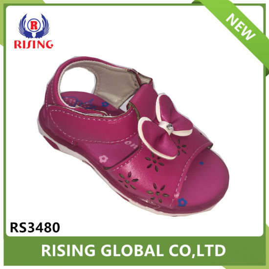 d2c8c0d252a6 China Summer Design Children Fancy Sandals Pu Material Simple Girls